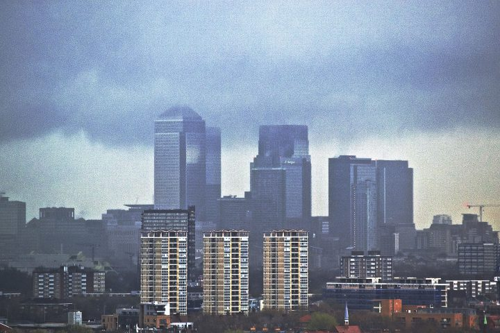 Storm brewing over Canary Wharf