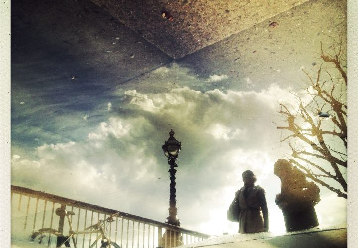 The last puddle on the South Bank - puddle reflection
