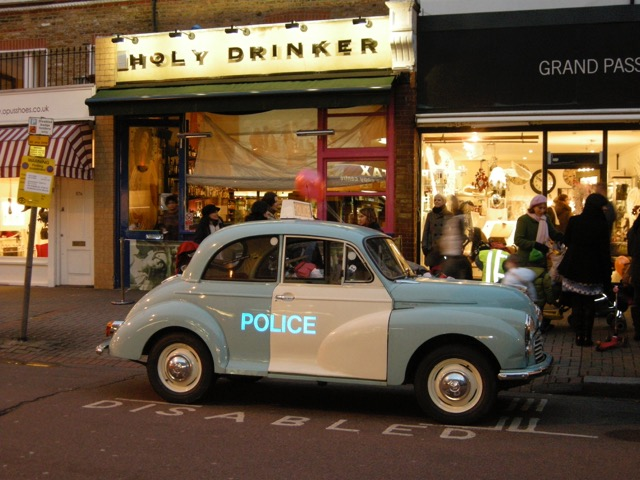 Holy Drinker and Police Panda car