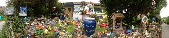 crazy garden, Isle of Wight