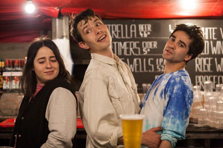 Staff at Frank's rooftop bar, Peckham