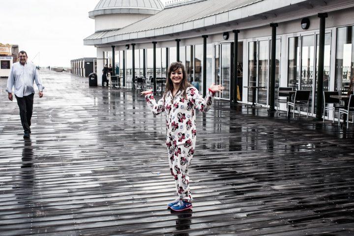 hastings pier in a onesie