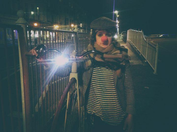 Francesca clowning