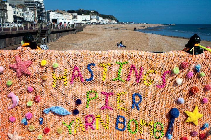 Pier Yarn Bomb by Nathan Jones