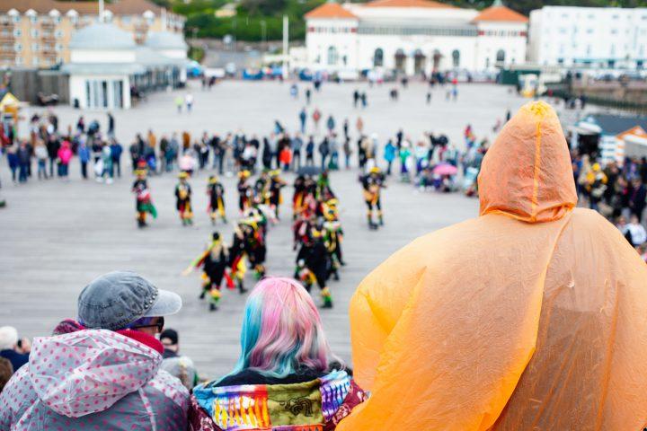 Morris dancers on Hastings Pier