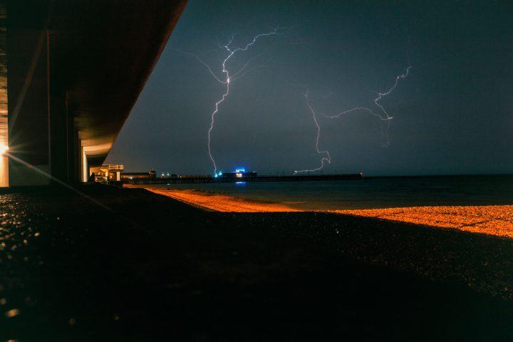 Hastings Pier Lightning