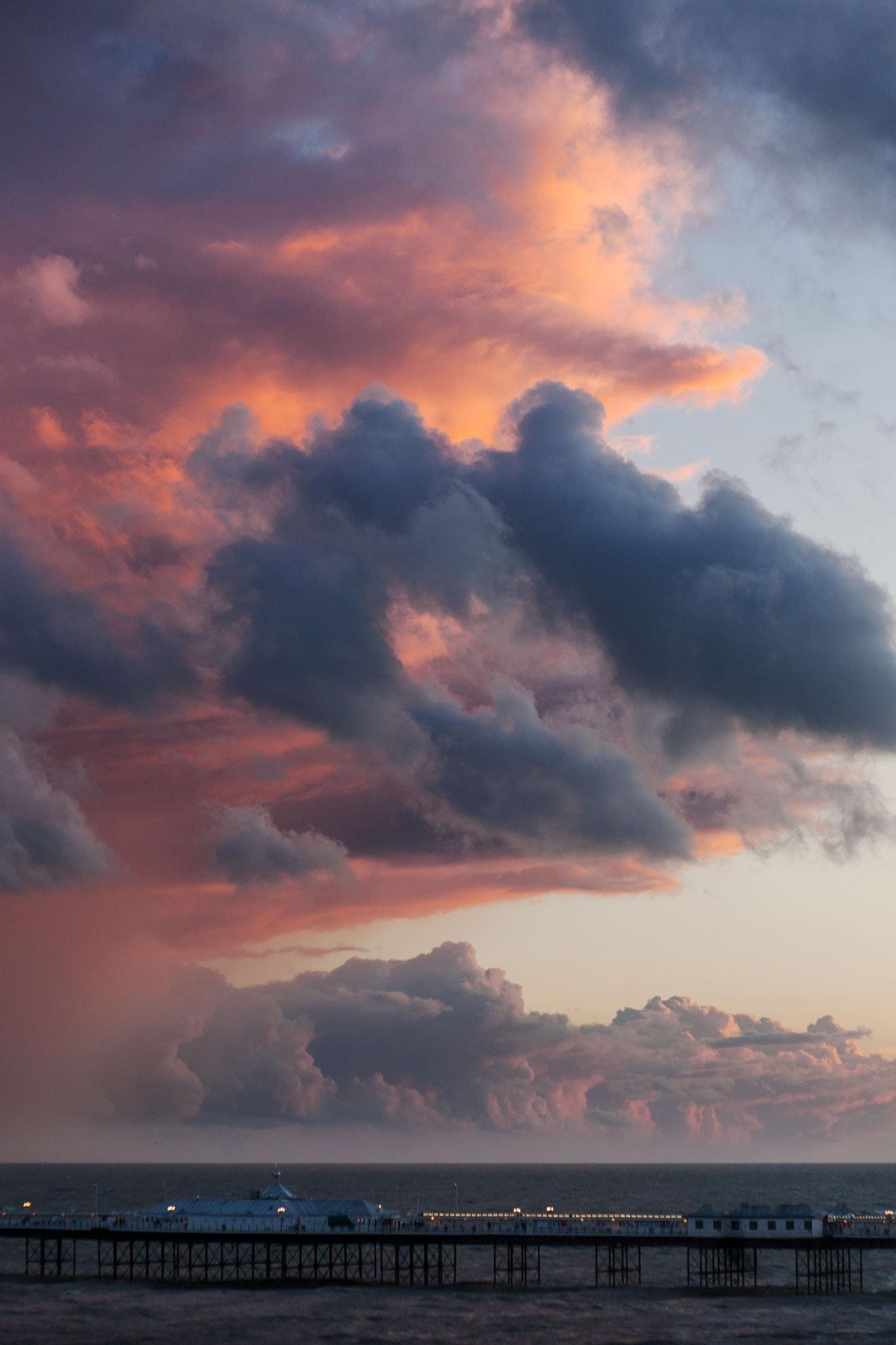 Brighton Palace Pier sunset clouds